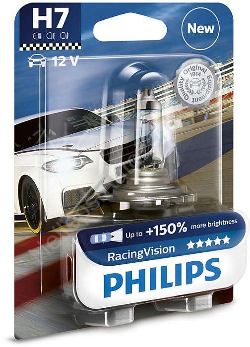 philips racingvision 12972rvb1 h7 px26d 12v 55w. Black Bedroom Furniture Sets. Home Design Ideas