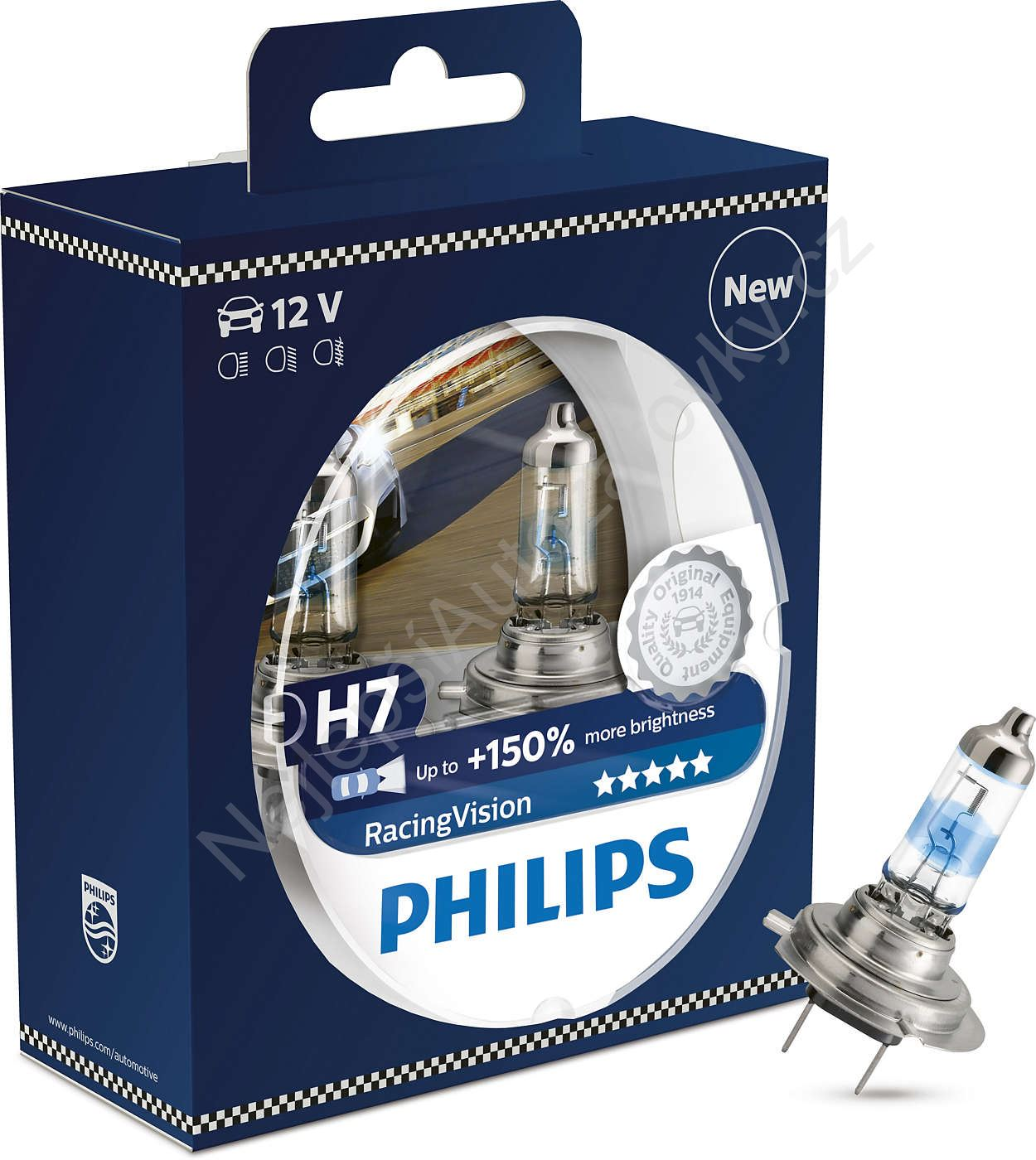 Autožárovka H7 12V Racing Vision 12972RVS2 Philips